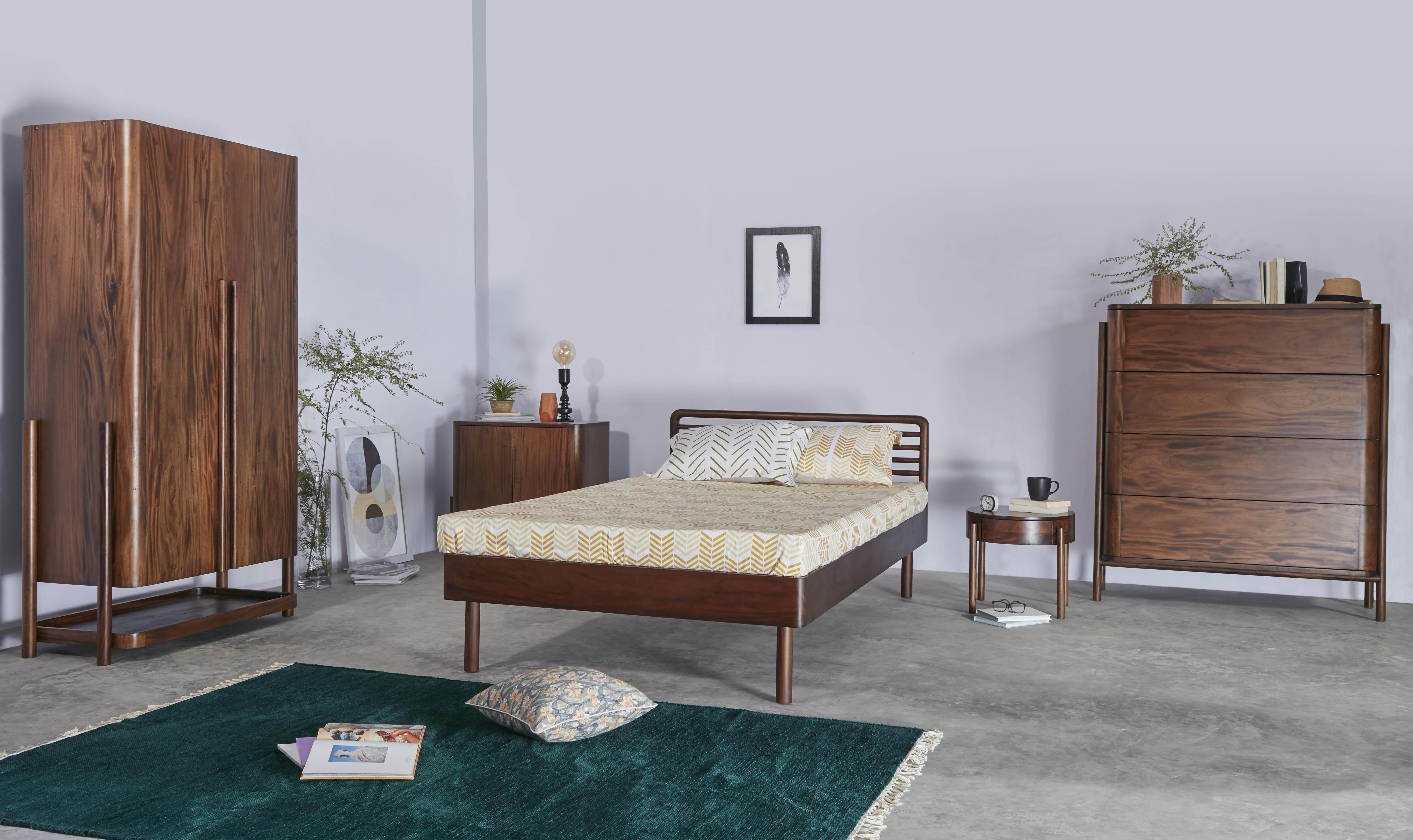 Boppard Dark Bed Side Table