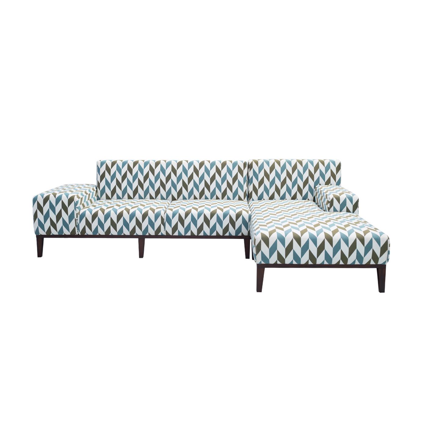 SoHo Geometric Patterned Dark Sofa (Clearance)