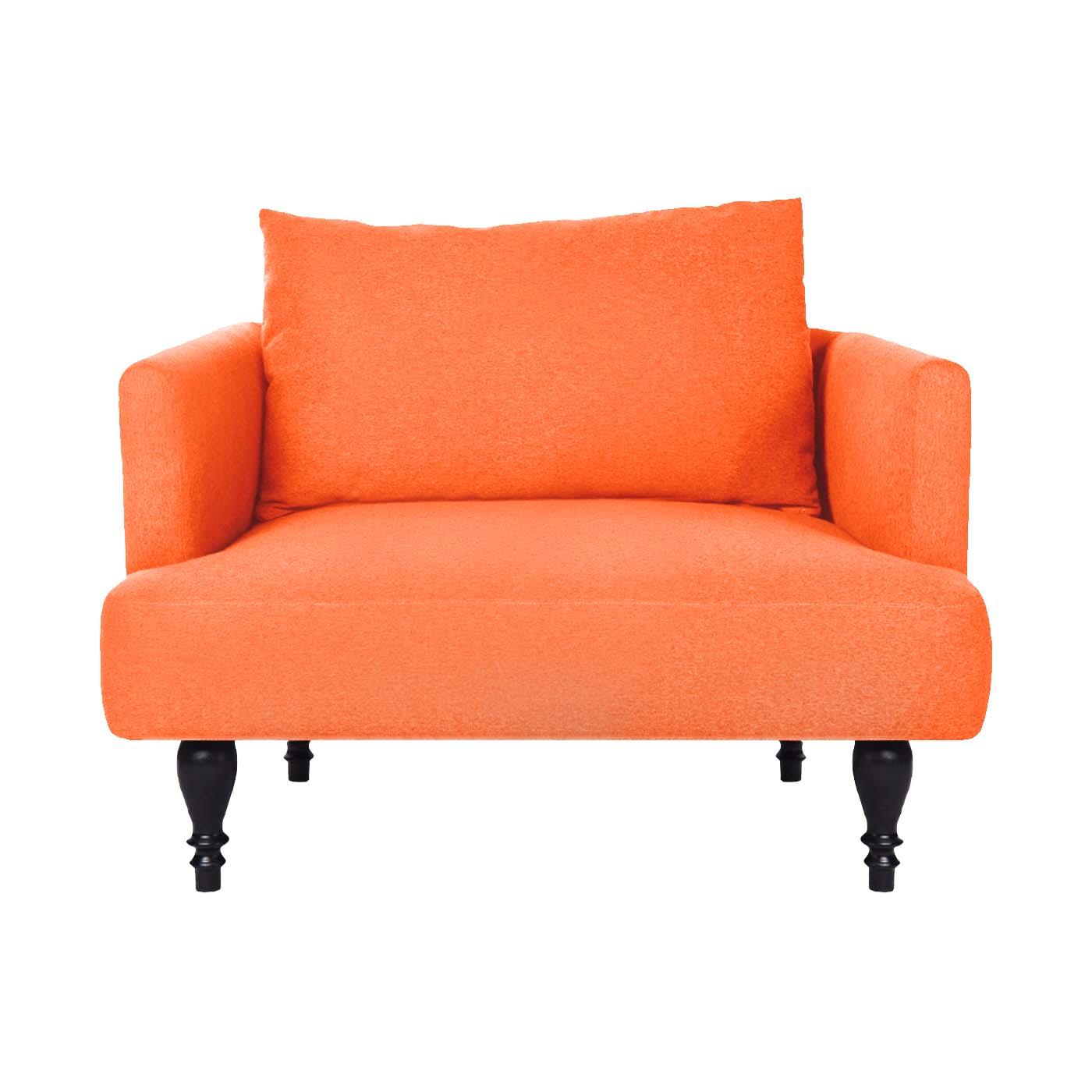 Rosewall Orange Black Single Sofa