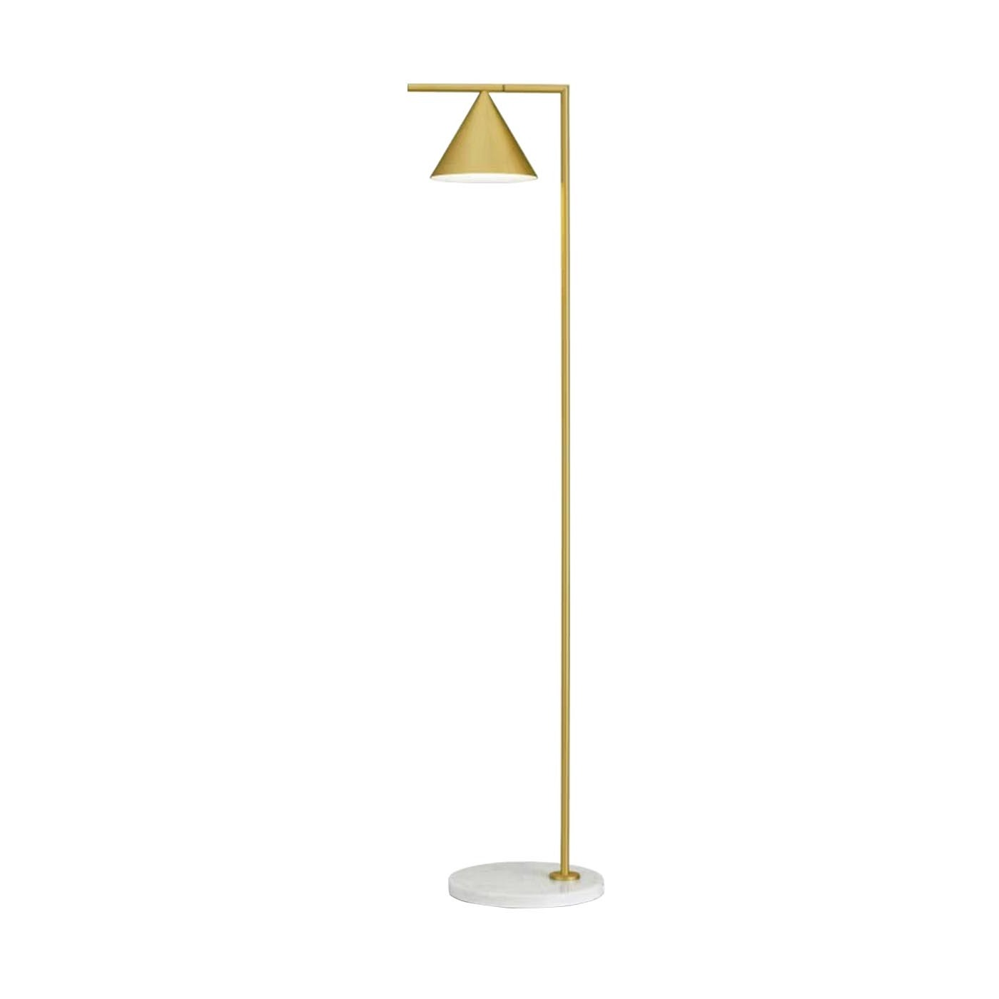Charcoal Gold Floor Lamp
