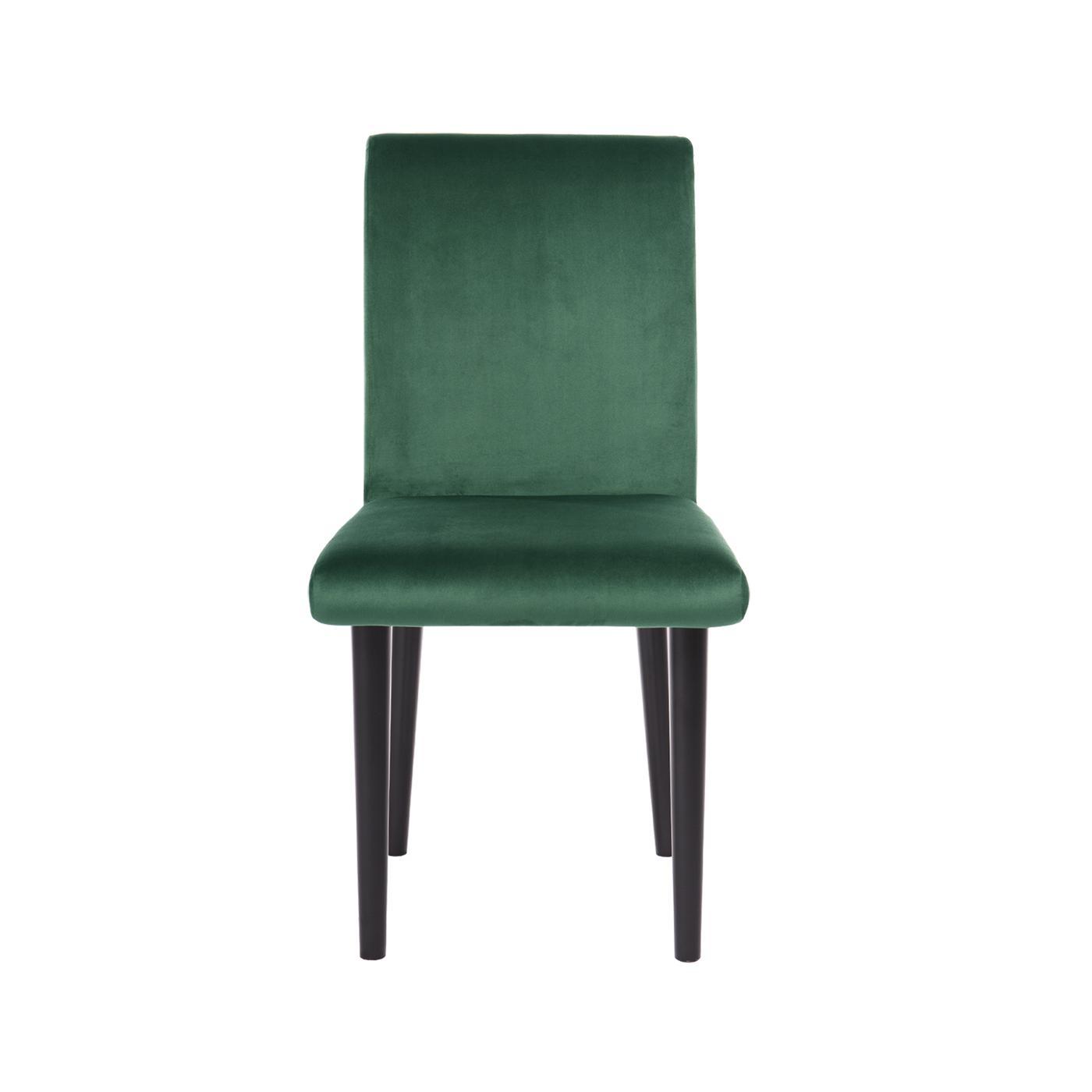 Pompeii Green Velvet Black Chair