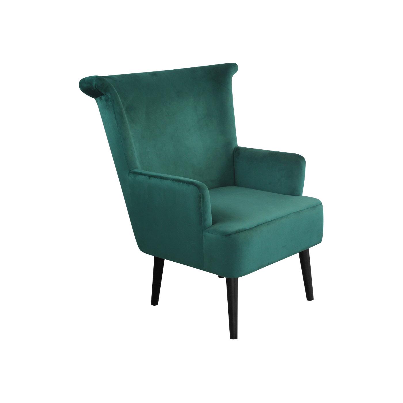 Pompeii Green Black Arm Chair