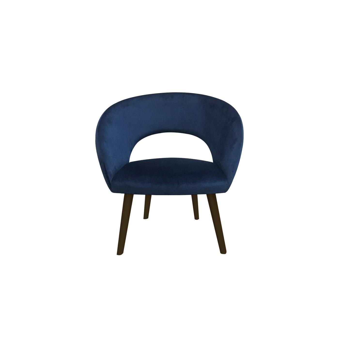 Ostrava Blue Velvet Dark Arm Chair
