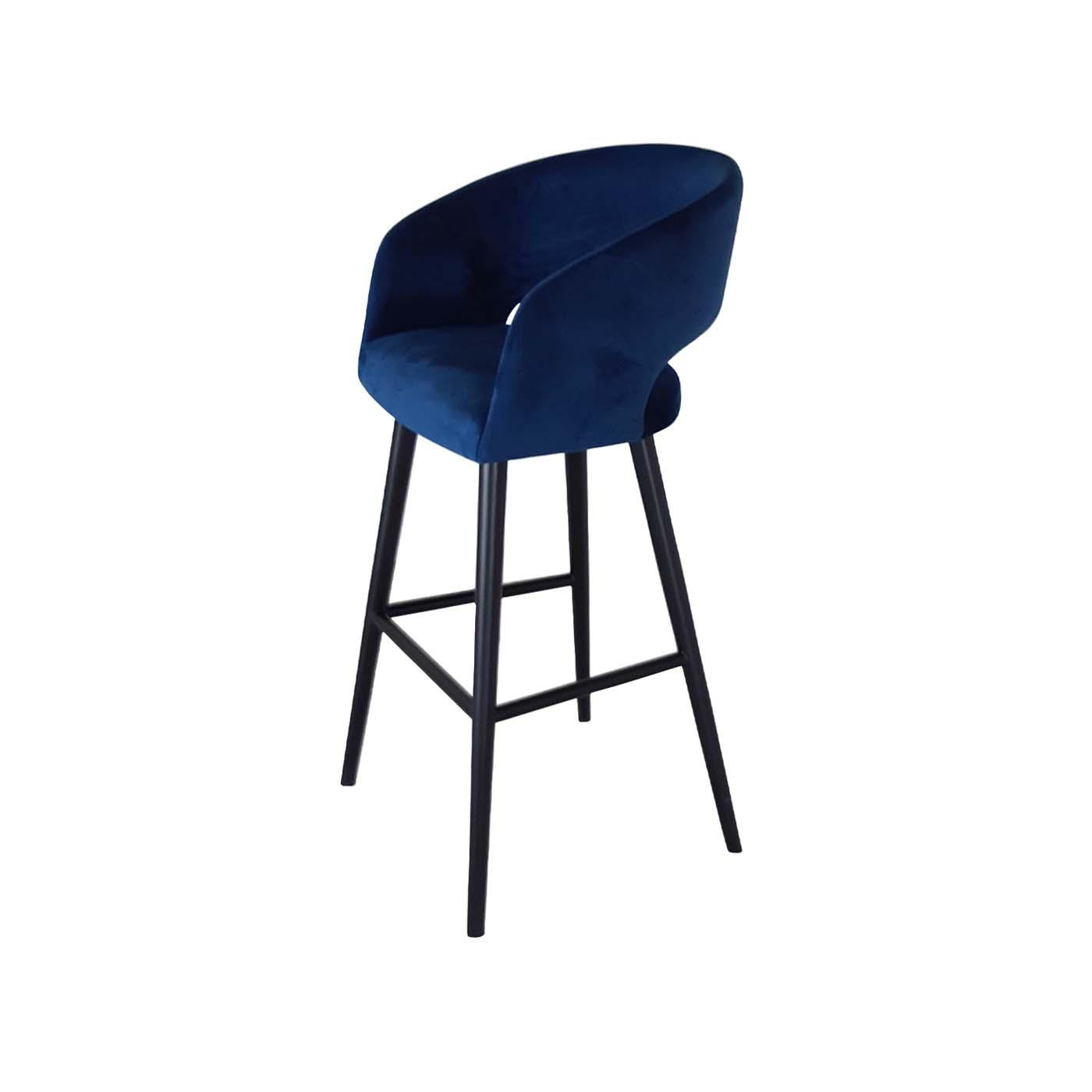 Ostrava Blue Bar Chair