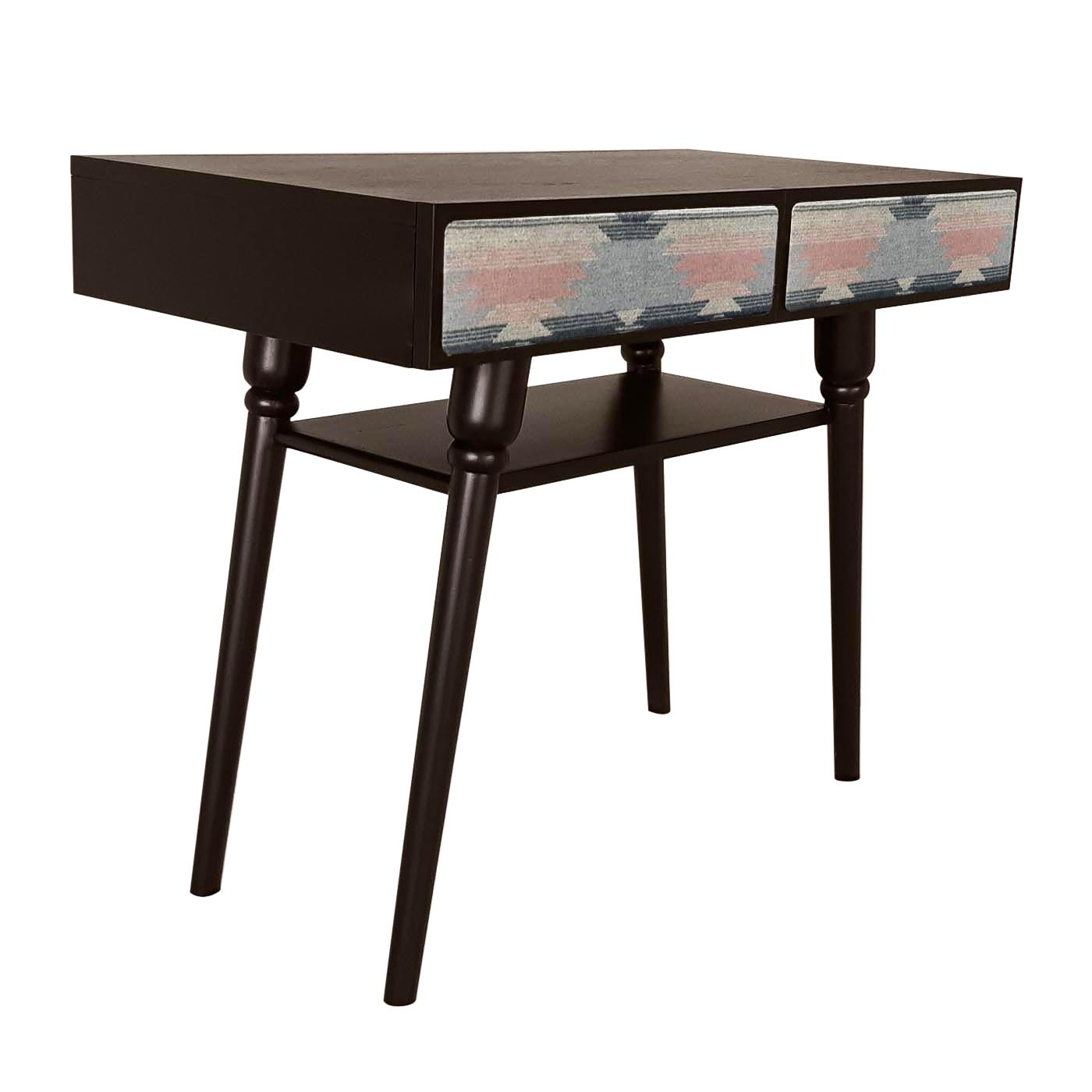 Nador Pink Patterned Dark Console Table