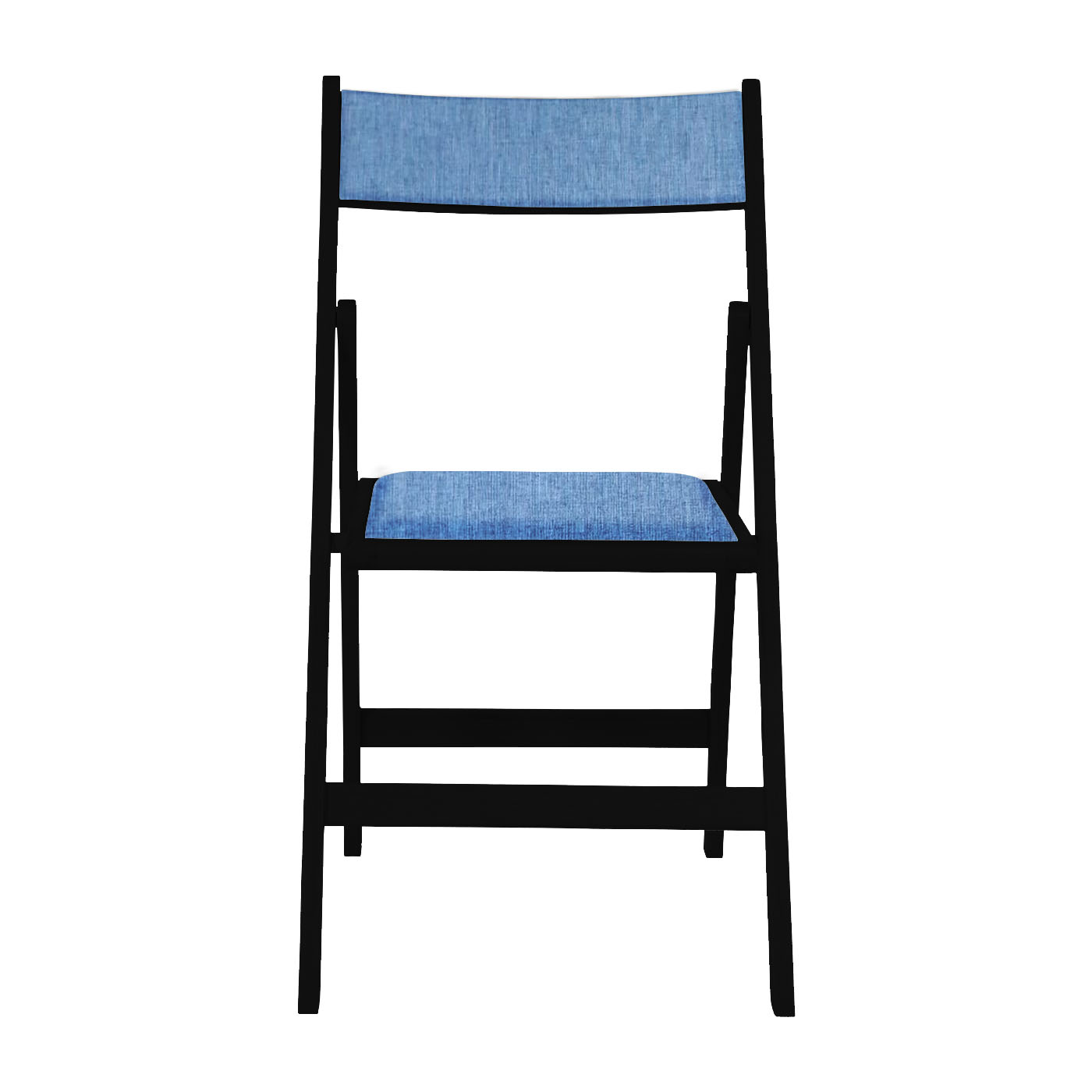 Kowloon Dark Blue Black Folding Chair