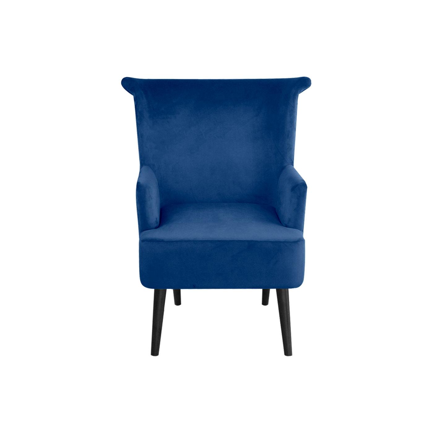 Pompeii Blue Black Arm Chair