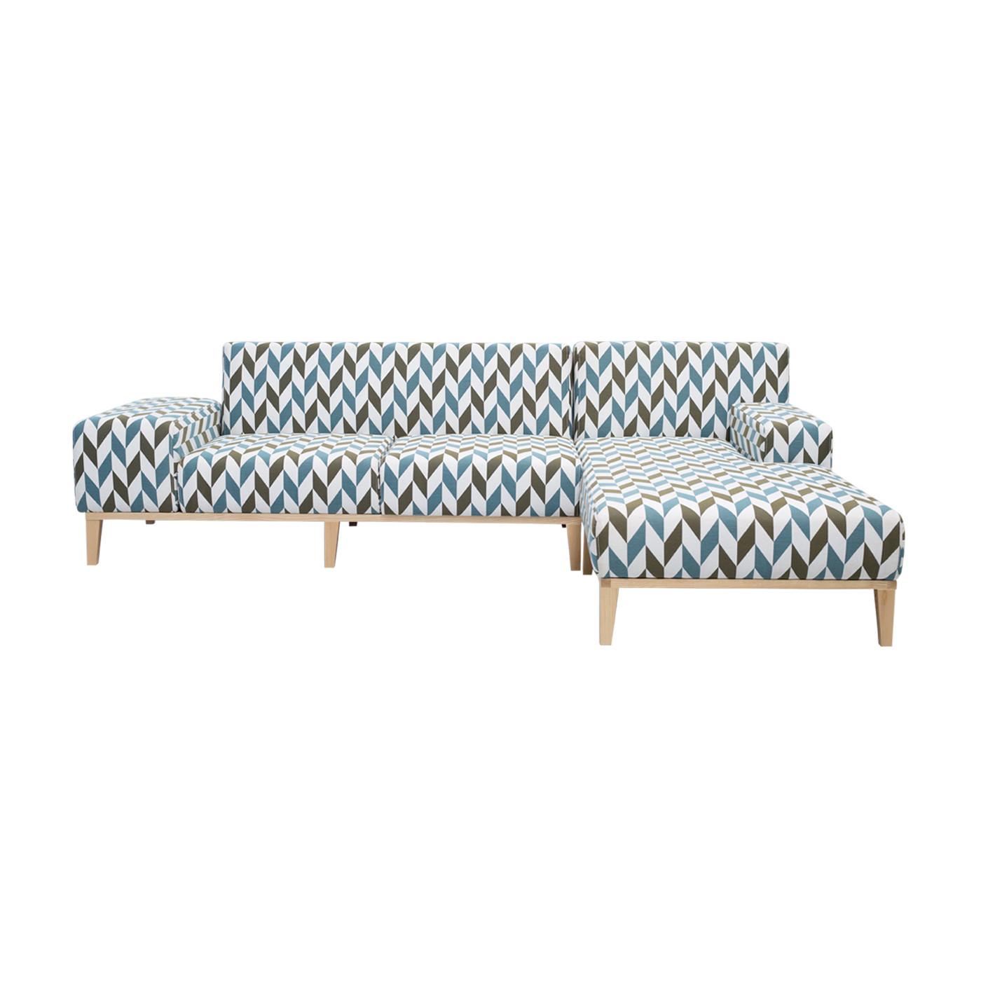 SoHo Geometric Patterned Light Sofa