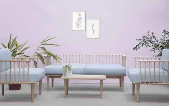 Jorasanko Light Blue Light Single Sofa