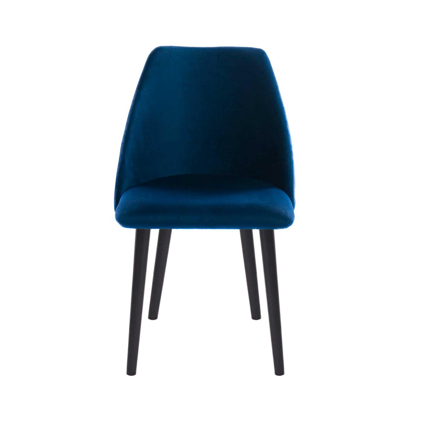 Elgin Blue Velvet Black Chair