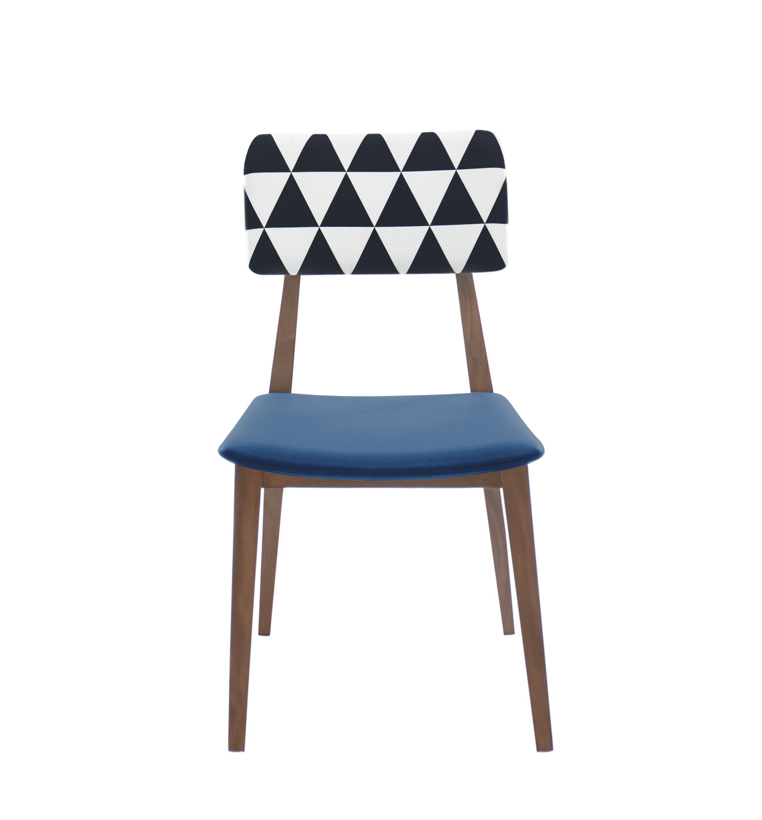 Vesterbro Printed Blue Dark Dining Chair