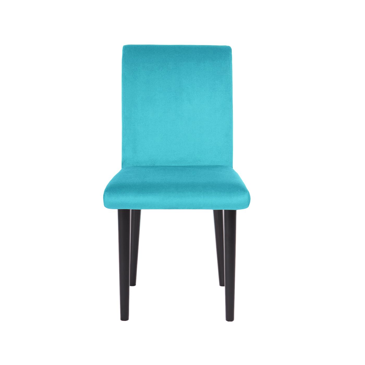 Pompeii Turquoise Velvet Black Chair