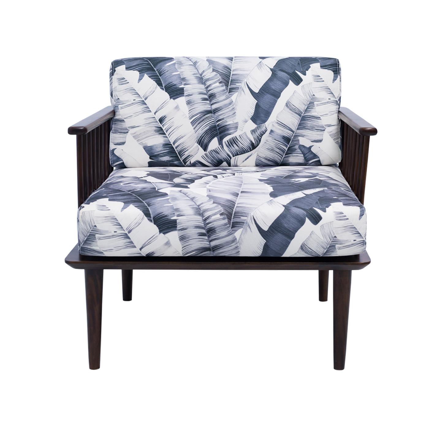 Jorasanko Printed Dark Single Sofa