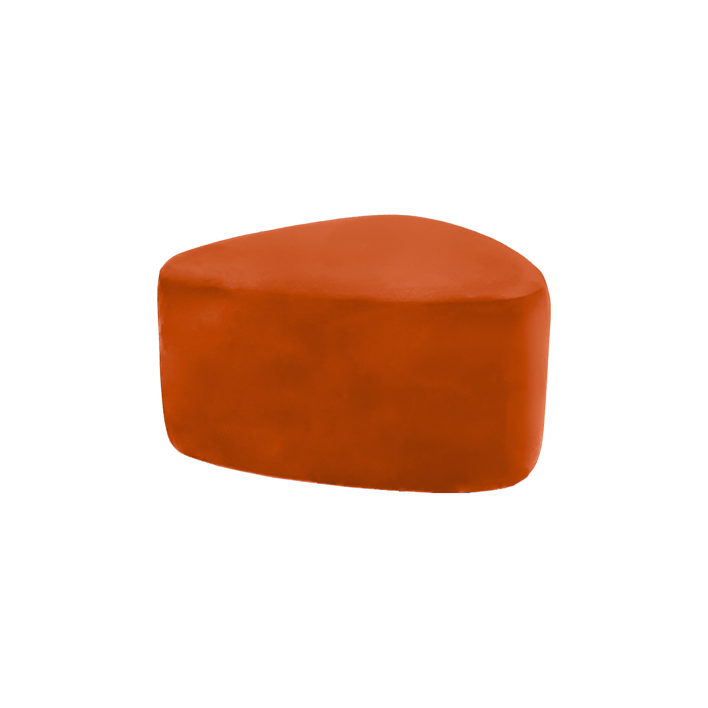 Pebble Orange Small Ottoman