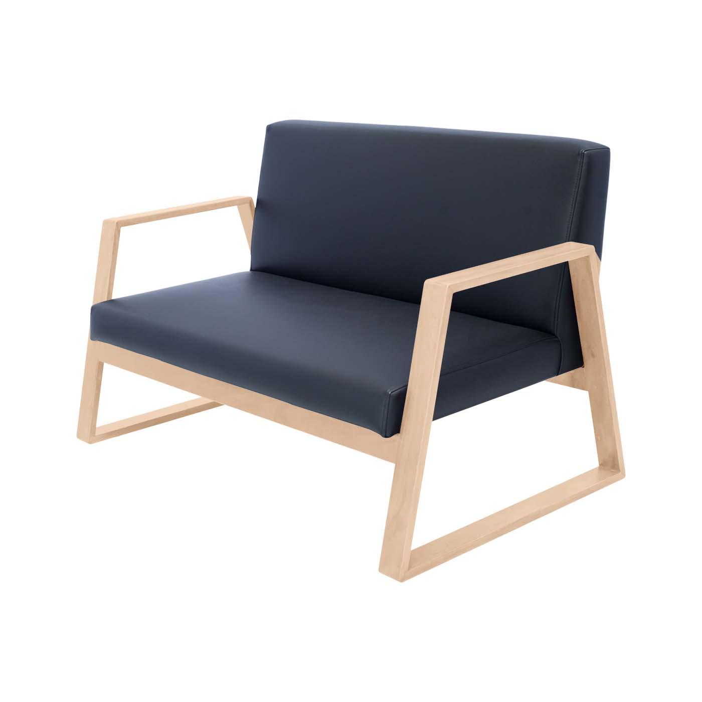 Mukō Black Light Double Sofa