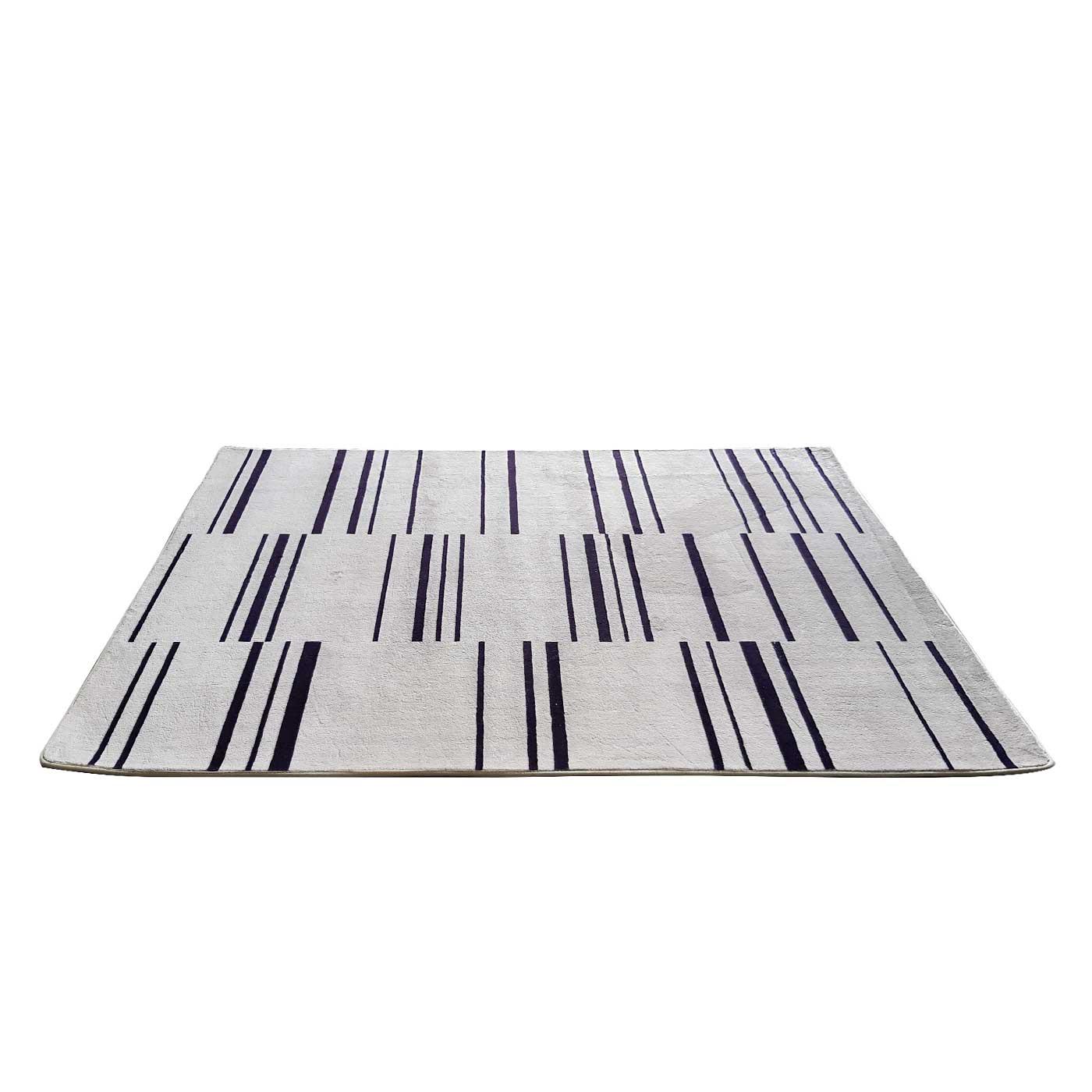 Linear Printed Monochrome Rug