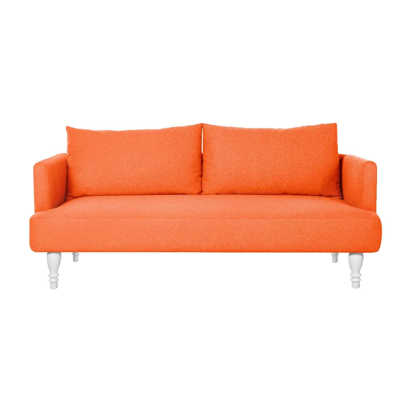Rosewall Orange White Double Sofa
