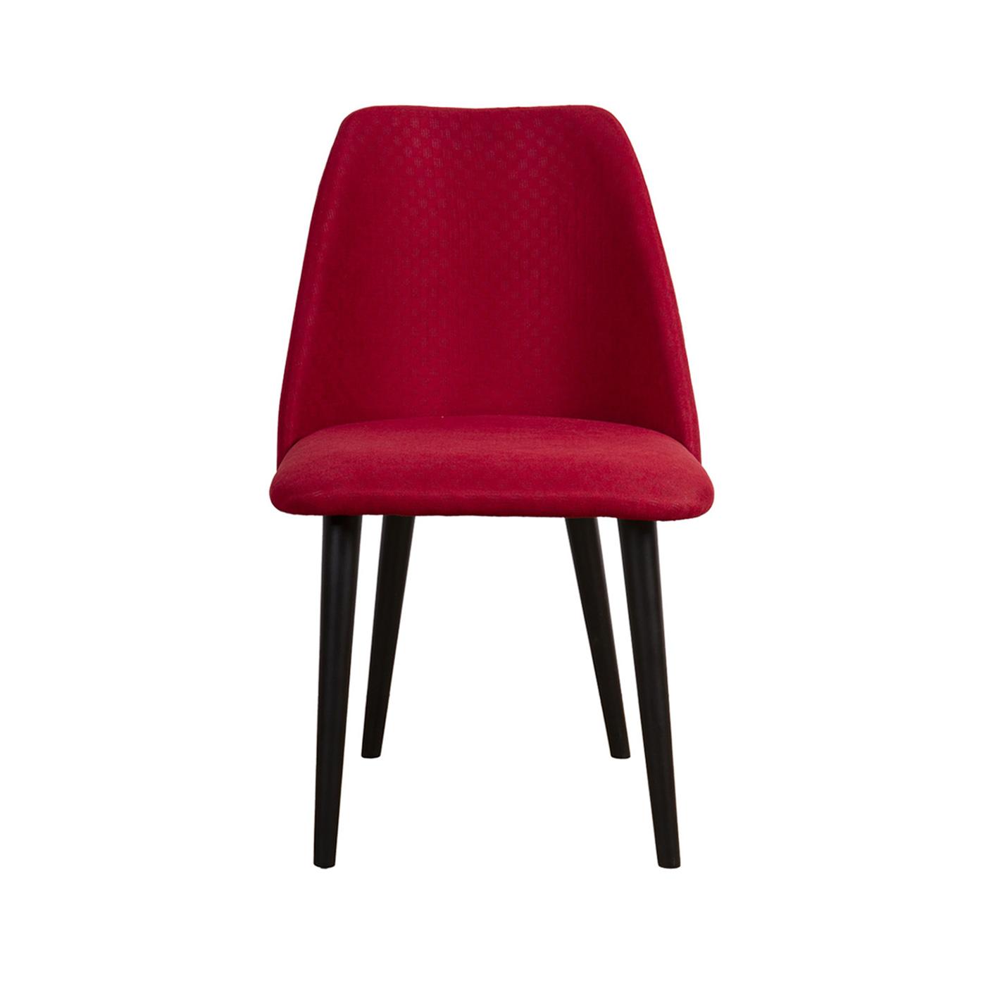 Elgin Red Velvet Black Chair