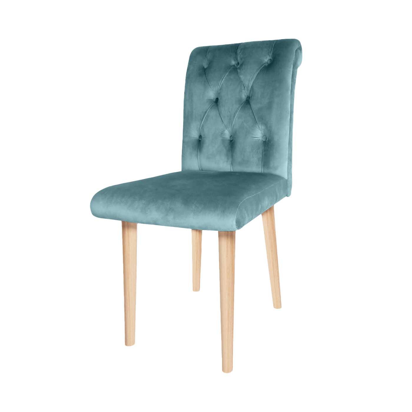 Chesterfield Aqua Green Stitch Light Dining Chair