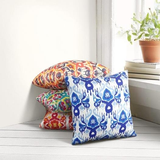 Ikat Red & Yellow Pillow (Limited Edition)