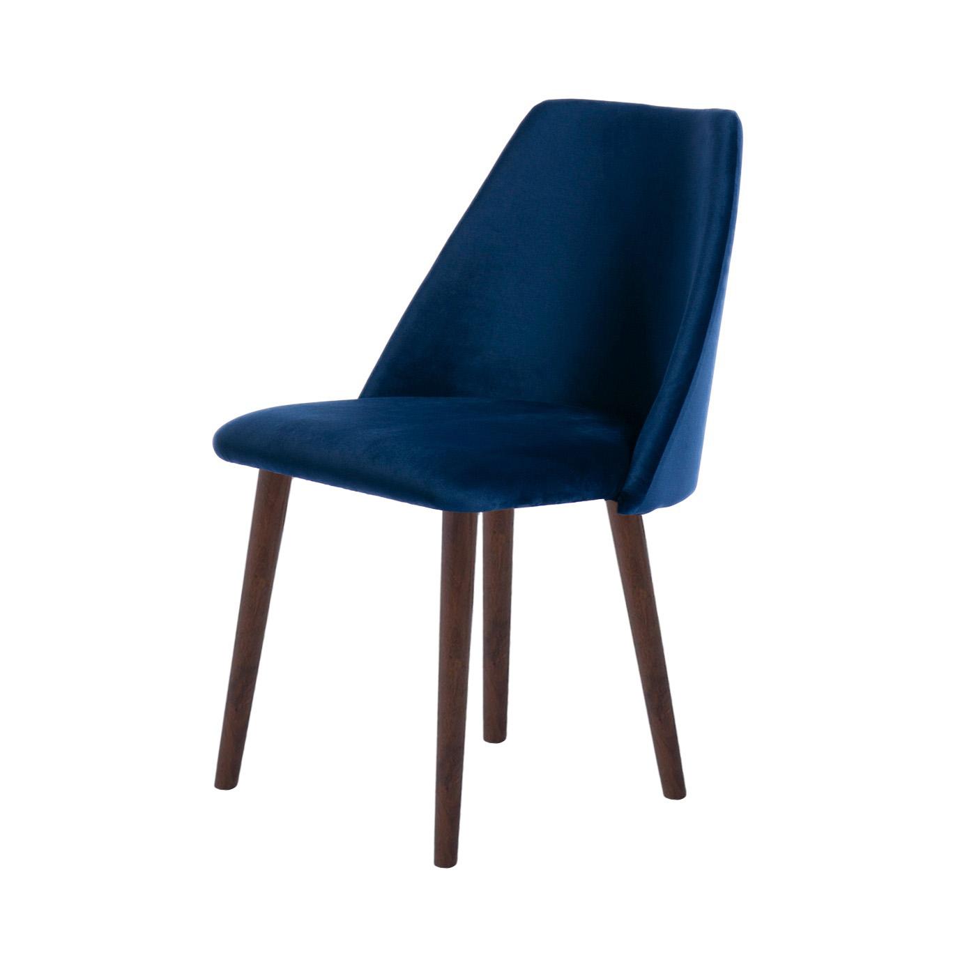 Elgin Blue Velvet Dark Chair