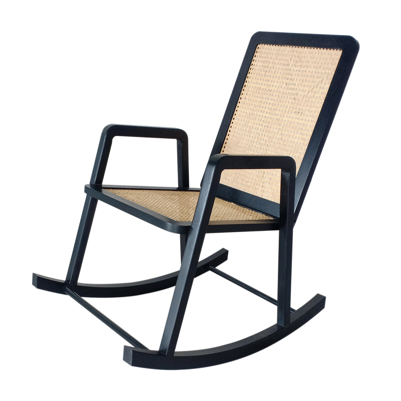 Ratargul Black Rocking Chair