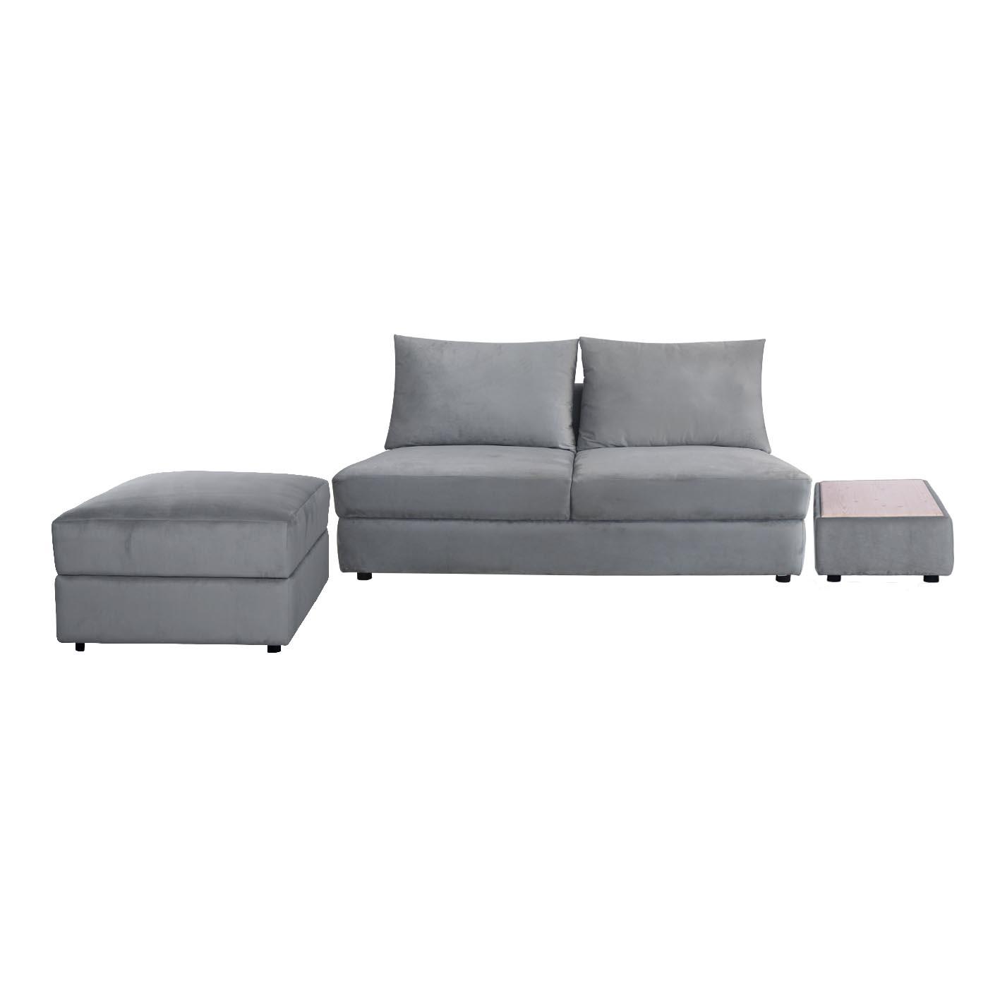 Elgin Grey Black Sofa (Clearance)
