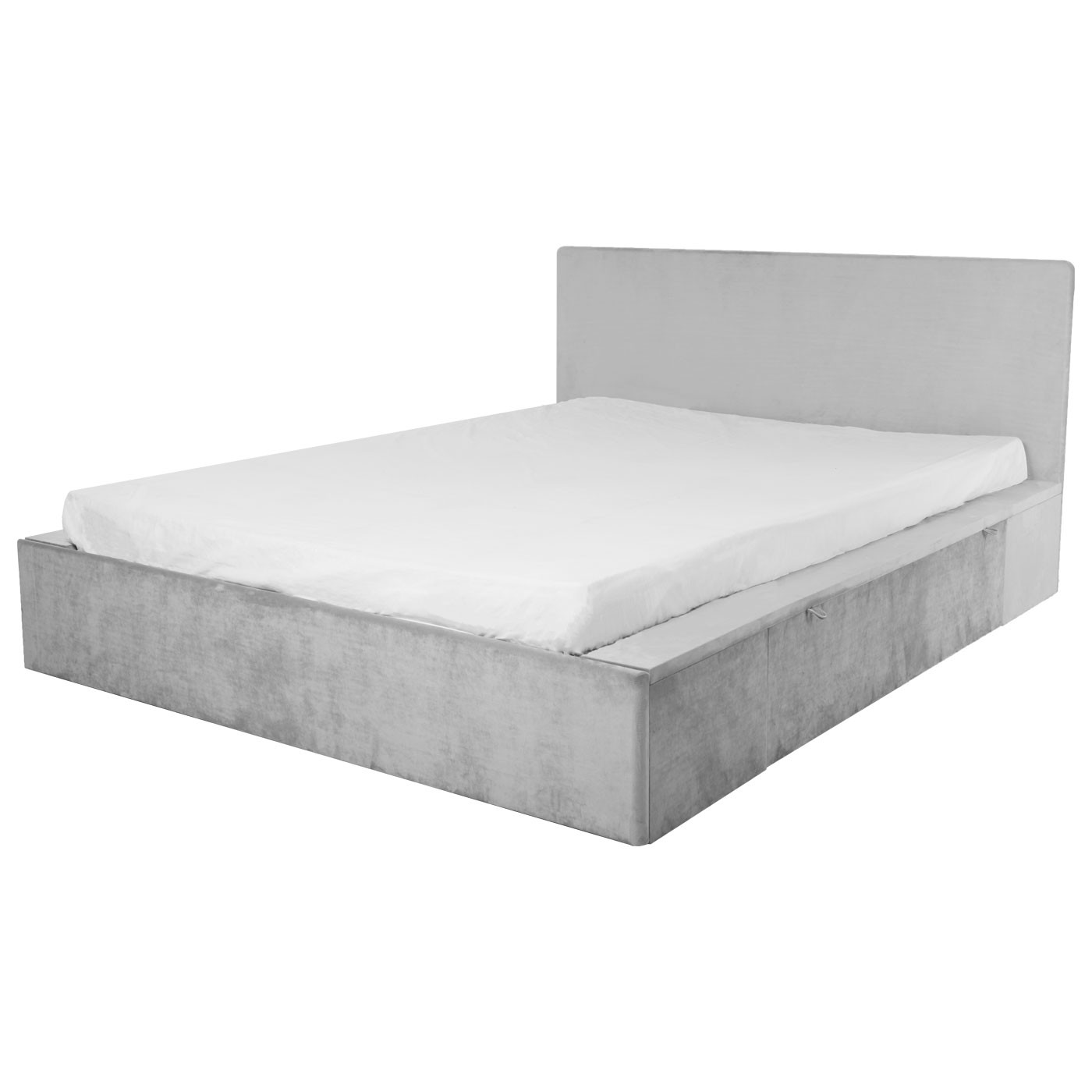 Elgin Grey Velvet Bed