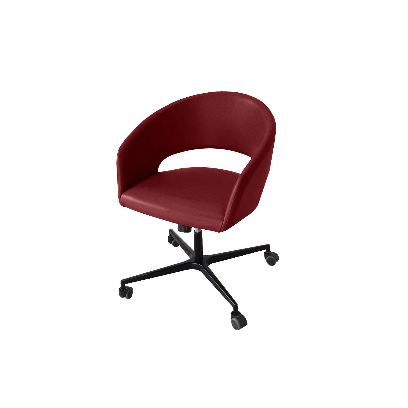 Ostrava Maroon Work Chair