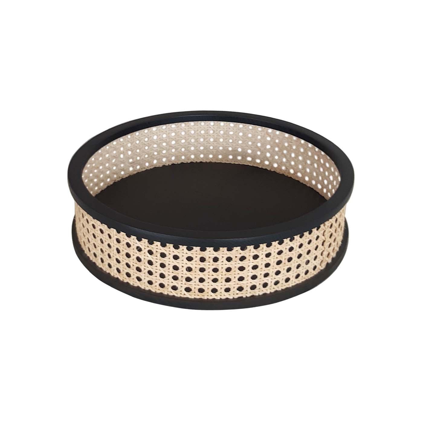 Ratargul Black Round Tray