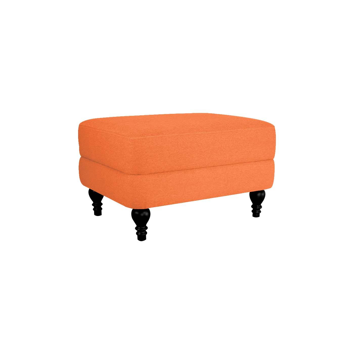 Rosewall Orange Black Ottoman
