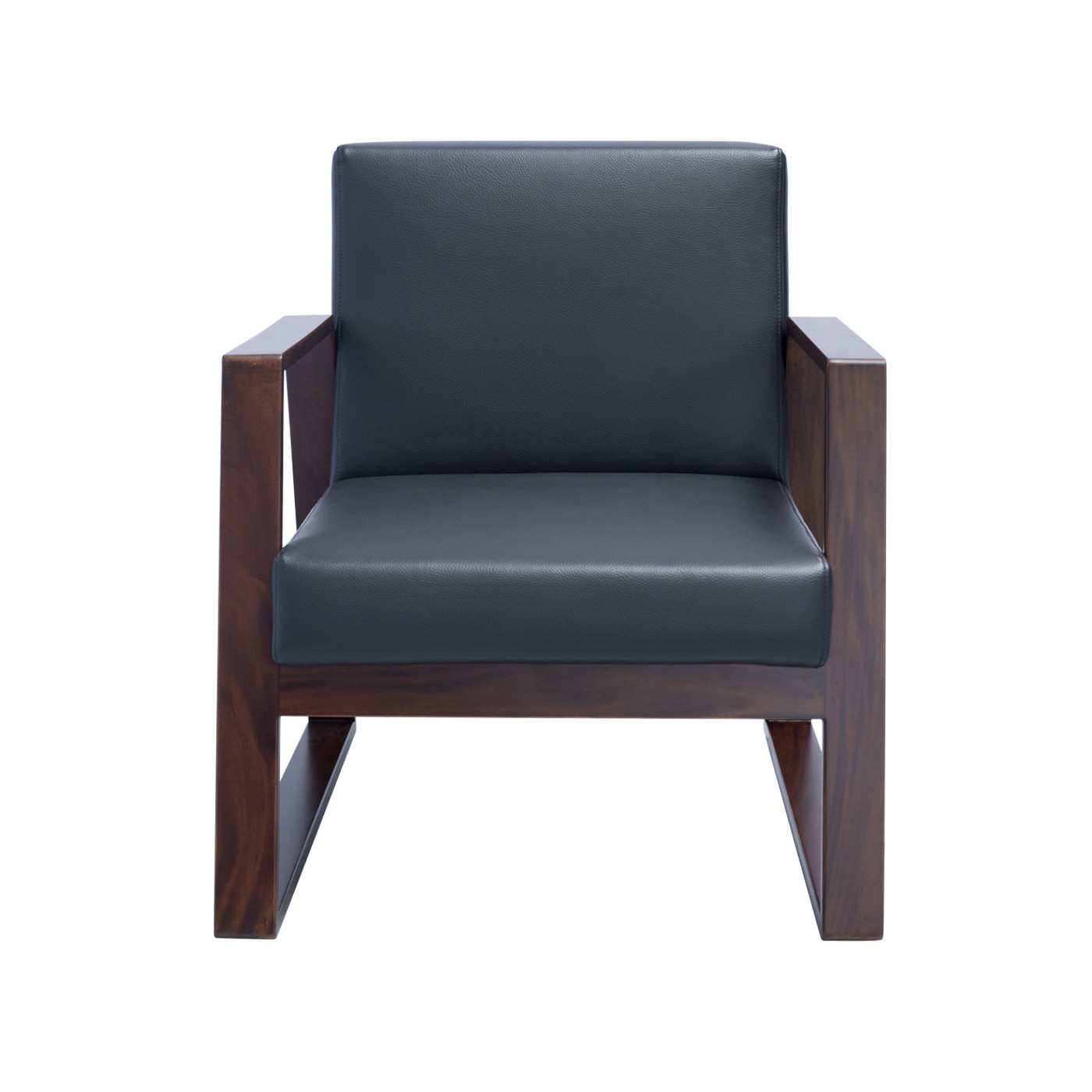 Mukō Black Dark Single Sofa