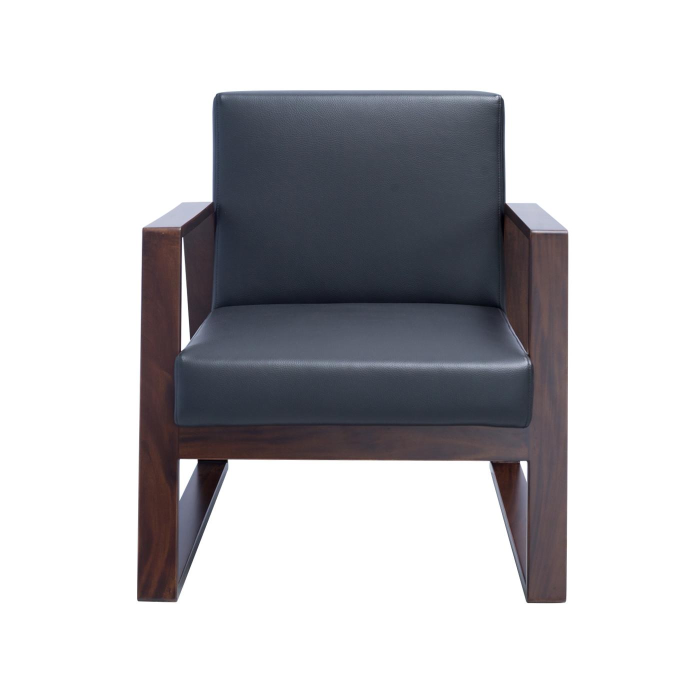 Muko Black Dark Single Sofa