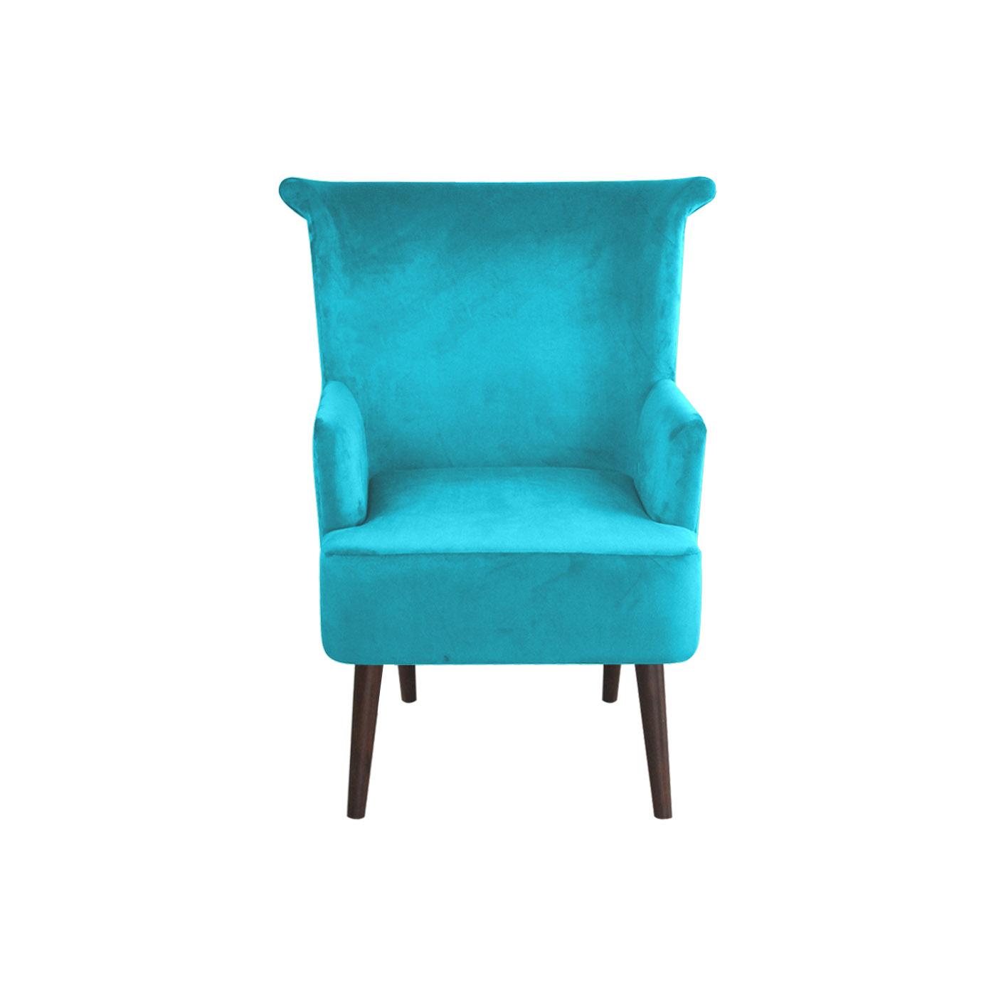 Pompeii Turquoise Dark Arm Chair