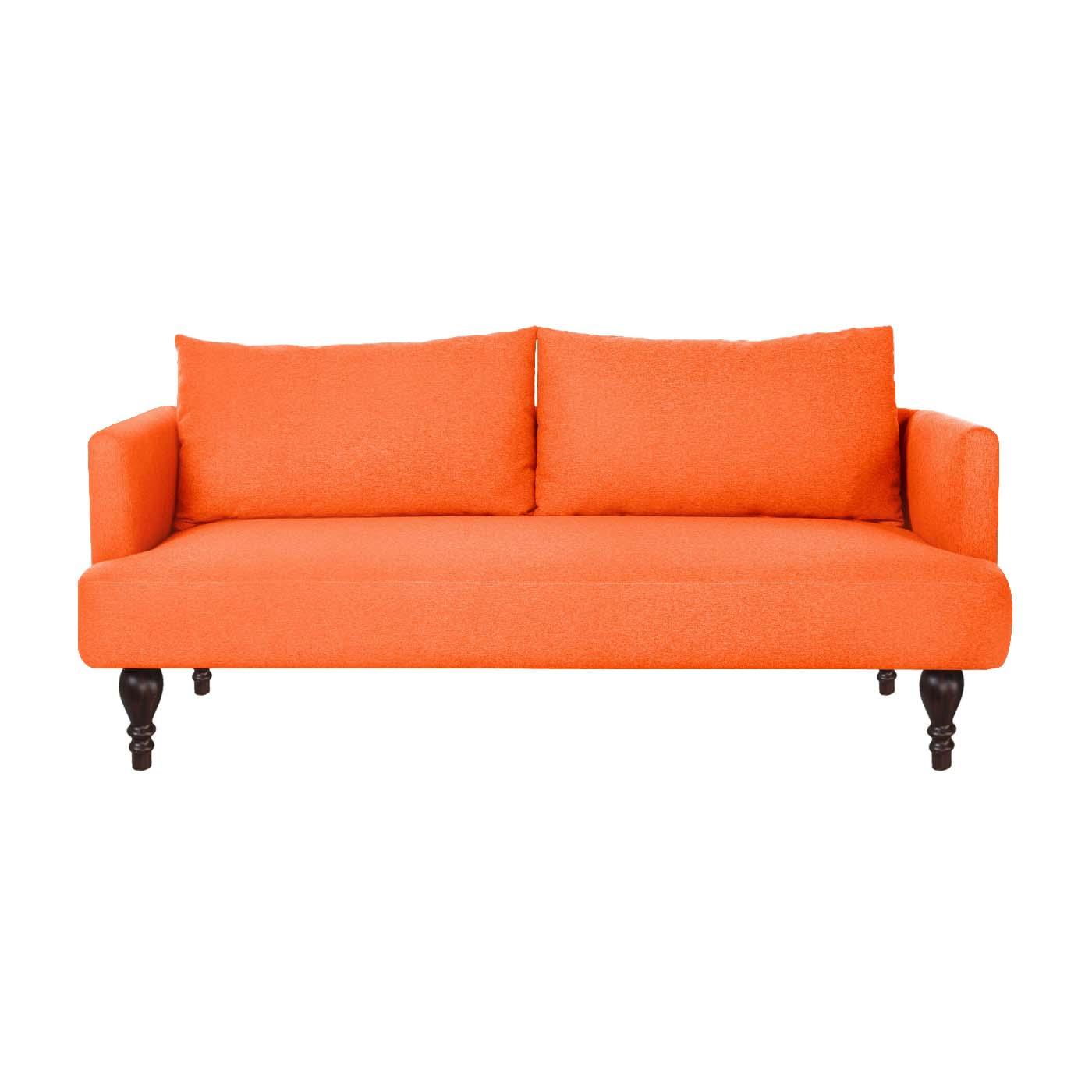 Rosewall Orange Dark Double Sofa